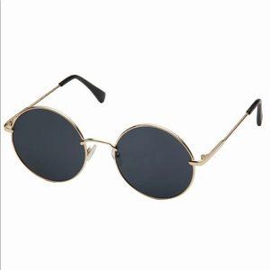 Metal Frame Round Lens Sunglasses